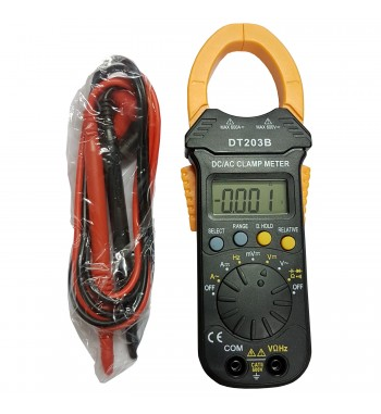 Pinza Amperometrica AC Y DC Capacimetro Digital DT203B