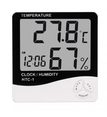 Termometro Ambiente digital Temperatura Humedad Reloj...