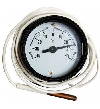 Termometro Redondo Analogico Con Bulbo -40º a +40ºC TJ4-1