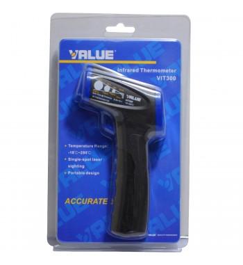 Termometro Infrarrojo Pistola -18º a +280ºC Value VIT300