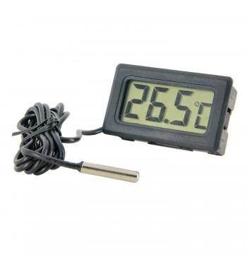 Termometro Digital Con Bulbo -50º a +70ºC TPM-10 Negro
