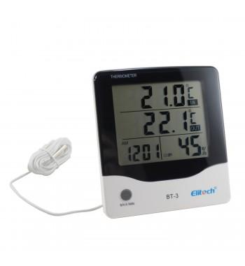 Termometro Higrómetro digital 2 Temperatura Humedad y...