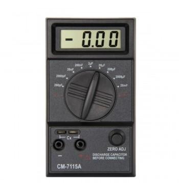Capacimetro Digital Capacitores Escalas 200pf A 20mf Cm7115A