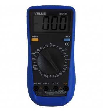Tester Multimetro Digital Value Con Capacimetro y...