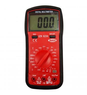Tester Multimetro Digital Zurich Con Protector ZR8230