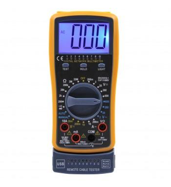 Tester Multimetro Digital Con Probador De Red Gralf GF-43A