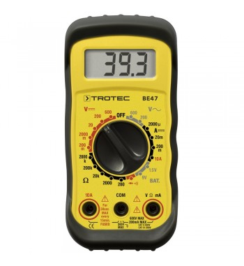 Tester Multimetro Digital Profesional 600V 10A TROTEC BE47