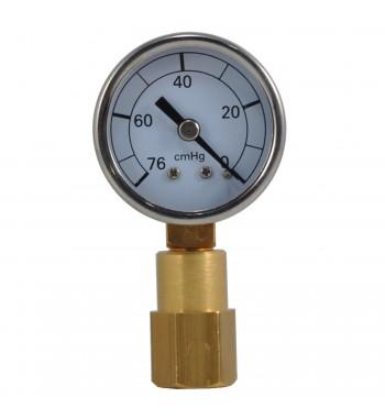 Vacuometro Analogico 40mm 0-76cmHg Con Acople 3/8 M990