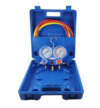 Manifold Value R22 R134a R404A R407C Completo VMG-2-R22