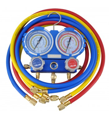 Manifold Value R410a R22 R134a R407C Completo Blister...
