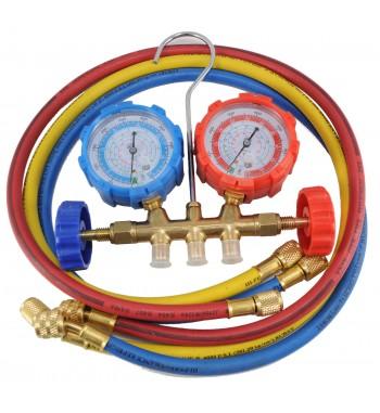 Manifold Zero R410A R22 R134a R404A Completo De Bronce