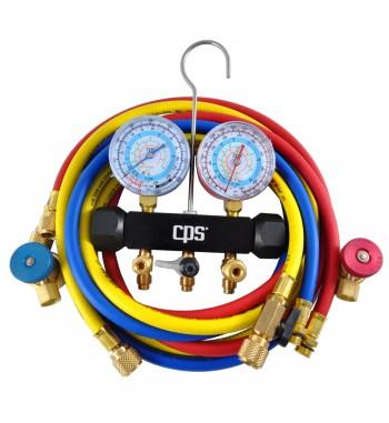 "Manifold CPS R134A R22 R404A 1/2AC"" Acoples Rapido CPS..."