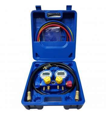 Manifold Value Multigases Digital Completo Con Manguera...