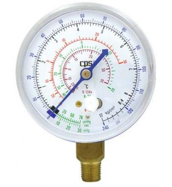 Manometro Baja De Refrigeración Gas R22 R134a R12 120psi...
