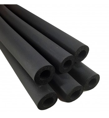 Tubo Aislante Negro por tira de 2 metros 1/2 9mm