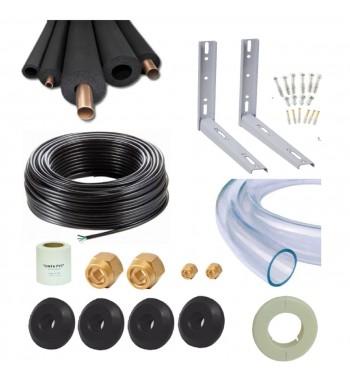 Kit 3 Mtrs de Cañerias, mensulas, accesorios FC 1/4 y 1/2...