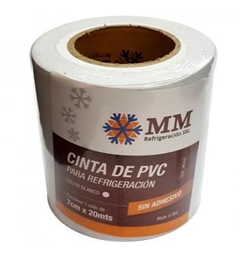 Cinta PVC MM Sin Adhesivo 7cm X 20mtrs - Blanca