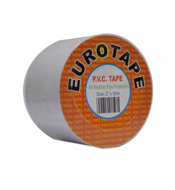 Cinta EUROTAPE Blanca con Adhesivo 50mm x 30mtrs x 0.13mm