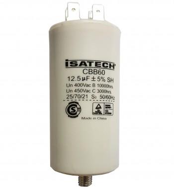 Capacitor de Marcha 12,5 uf C/ tornillo - ISATECH