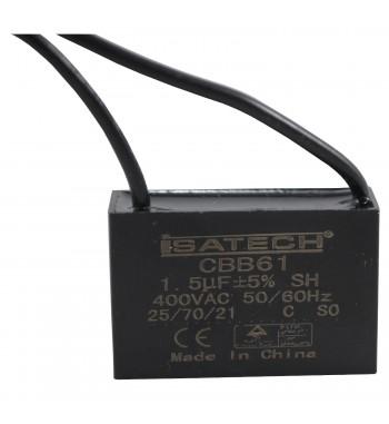 Capacitor de Marcha Cuadrado 1,5 uf 400VCA - ISATECH