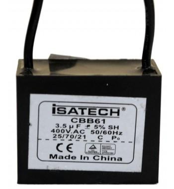 Capacitor de Marcha Cuadrado 3,5 mf - ISATECH