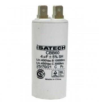 Capacitor de Marcha 04 uf - ISATECH