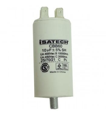 Capacitor de Marcha 10 uf C/ tornillo- ISATECH