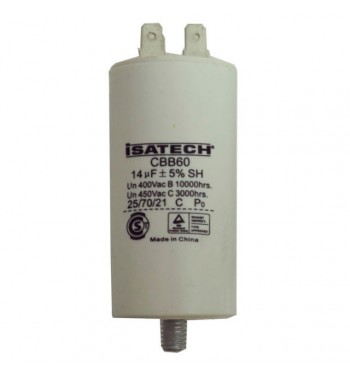 Capacitor de Marcha 14 uf C/ tornillo - ISATECH