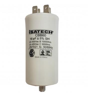 Capacitor de Marcha 16 uf C/ tornillo - ISATECH