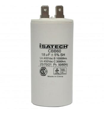 Capacitor de Marcha 18 uf - ISATECH