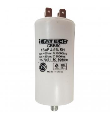 Capacitor de Marcha 18 uf C/ tornillo - ISATECH