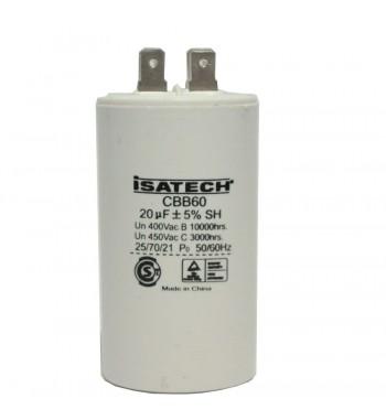 Capacitor de Marcha 20 uf - ISATECH