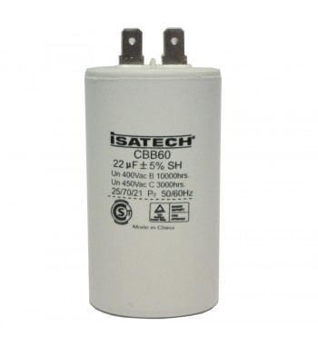 Capacitor de Marcha 22 uf C/ tornillo - ISATECH
