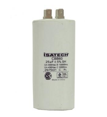 Capacitor de Marcha 25 uf - ISATECH