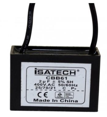Capacitor de Marcha Cuadrado 2 uf - ISATECH