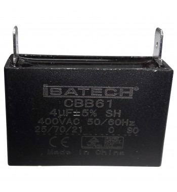 Capacitor de Marcha Cuadrado 4 uf - ISATECH