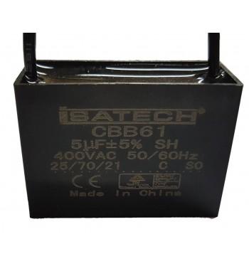 Capacitor de Marcha Cuadrado 5 uf - ISATECH