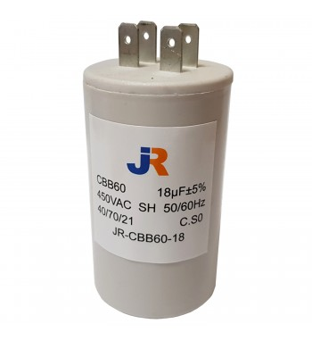 Capacitor de Marcha Plastico 18 uf - JR