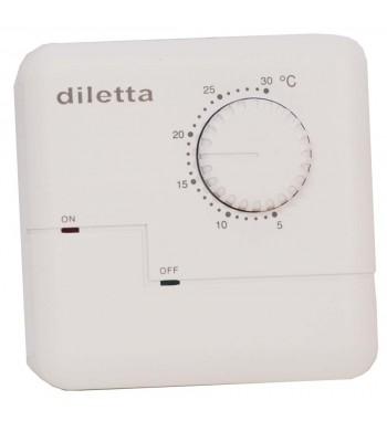 Termostato de Ambiente Electronico Frio Calor 7(3)A a...