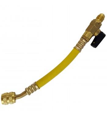 Manguera Con llave Globo Amarilla 1/4 HS-115