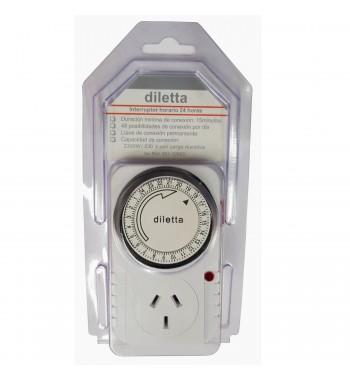 Timer enchufable diario Diletta 2300w / 220v ref 501-12893