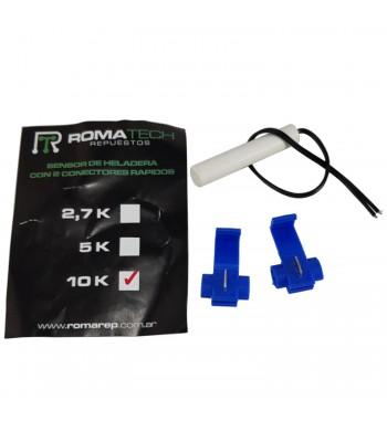Sensor de Heladera 10K Con 2 Contactores Rapidos Ambiente...