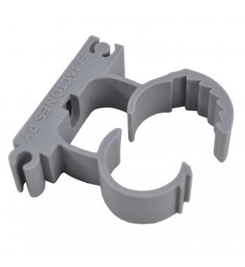 Abrazadera Regulable De Nylon Para 25 a 32mm Gris Clampy...