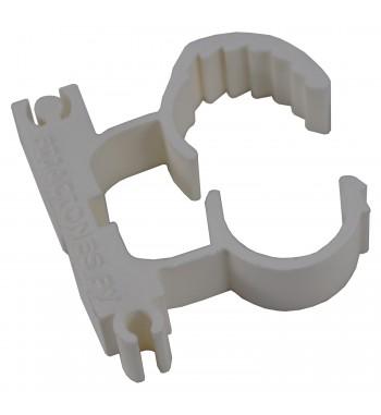 Abrazadera Regulable De Nylon Para 19 a 25mm Blanco...
