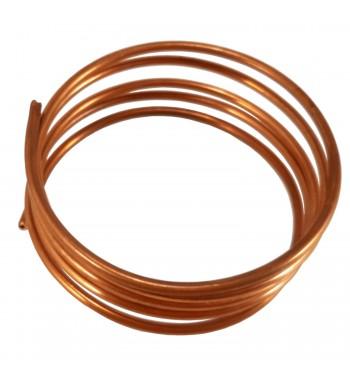 Capilar de cobre fraccionado por 3,25mt diametro 0.8 mm