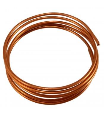 Capilar de cobre fraccionado por 3,25 Mt diametro 1.25 mm