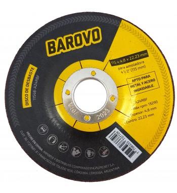 """Disco de Desbaste para amoladora 4 1/2"""" espesor 4,8mm Barovo"""