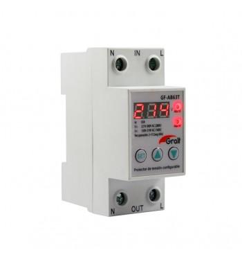 Protector de Tension Configurable con voltimetro 63A...