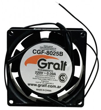 "Turbina Cooler Extractor 3"" 220v 80x80x25mm Rulemán Gralf..."