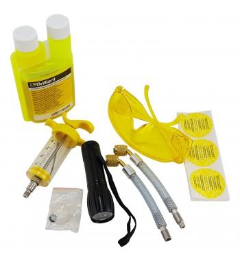 Kit Detección Fugas de Gas Refrigerante UV+Lint+Gaf+Adap